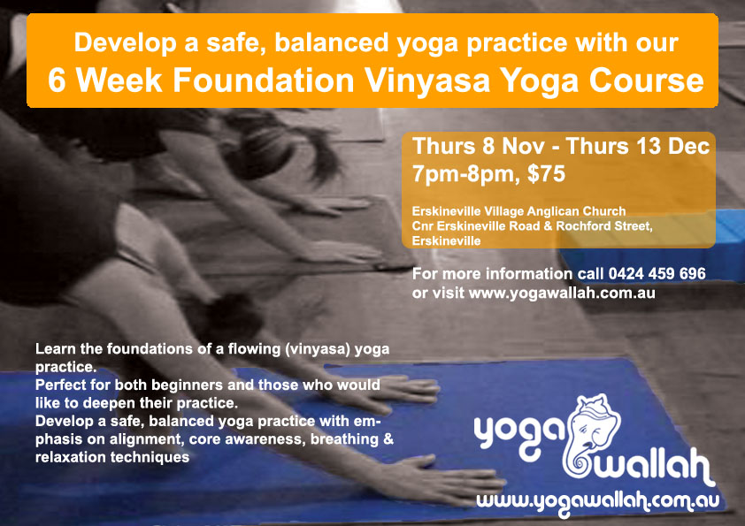 Yoga Foundation Course Flyer
