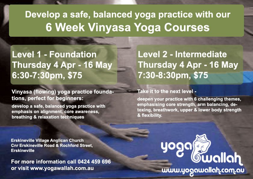 Yoga foundation courses flyer