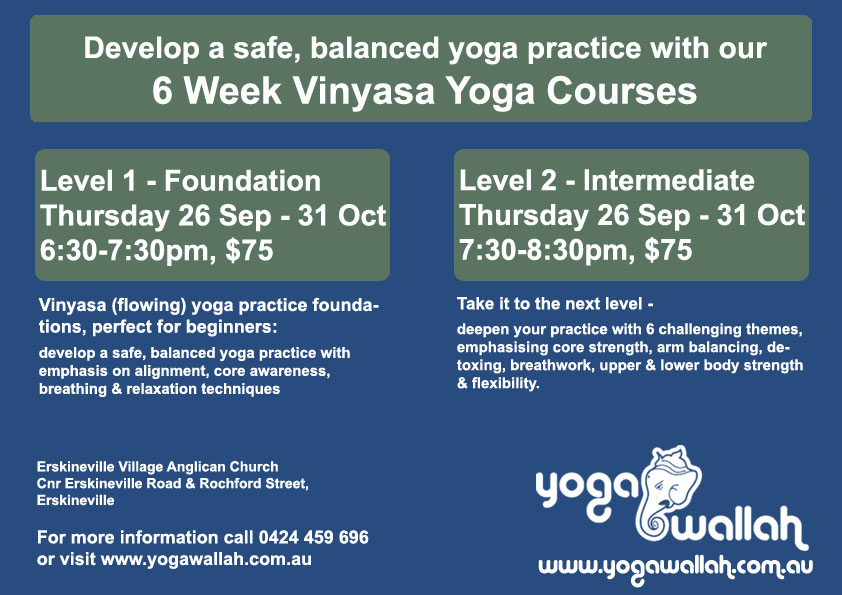 Yoga Foundation Courses start Thurs 26 Sep