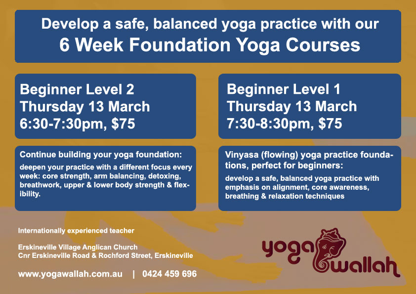 6 Week Foundation Yoga Course Image