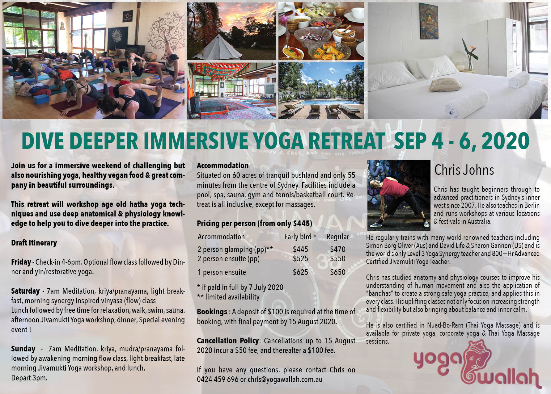 Dive Deeper Immersive Yoga retreat 4-6 Sep 2020 Broschure page 2