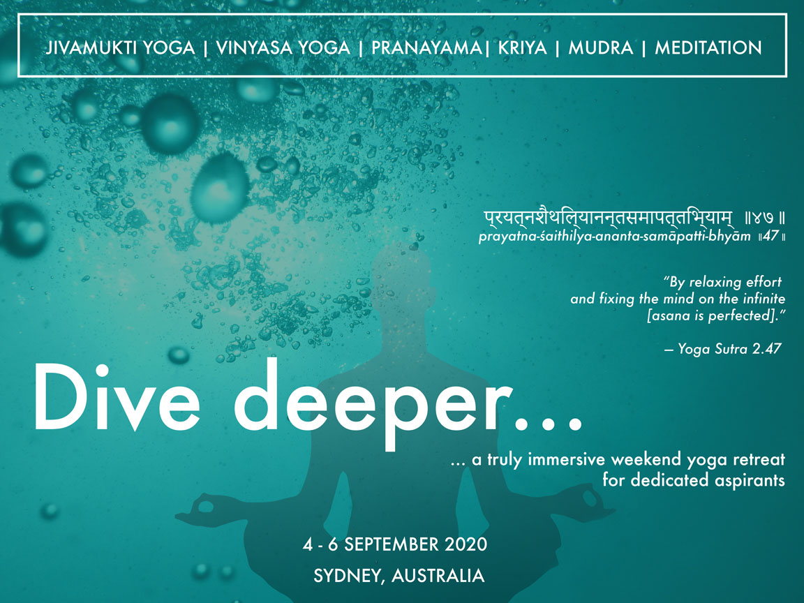 Dive Deeper Yoga retreat 4-6 Sep 2020, Broschure page 1